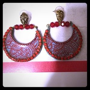 Women hoop costumes earrings jewelry